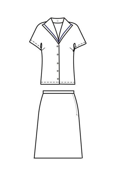 Юбка и блуза ПЛ4б