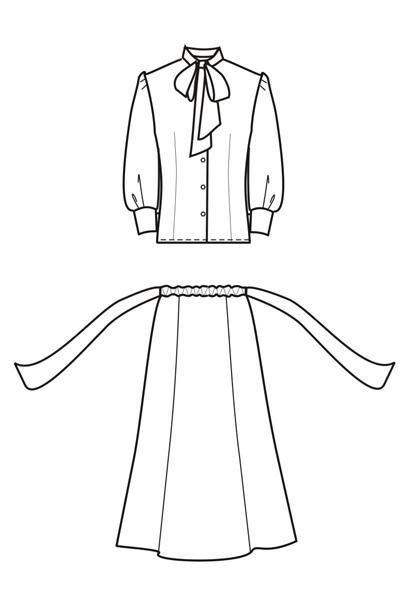 Юбка и блуза Сецессион ПЛ6