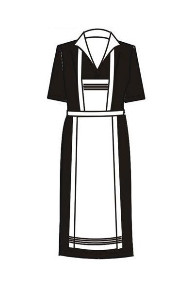 Платье-халат Х21 с фартуком