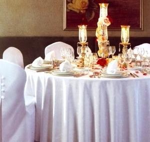 Скатерть для ресторана 250 см. (белая)
