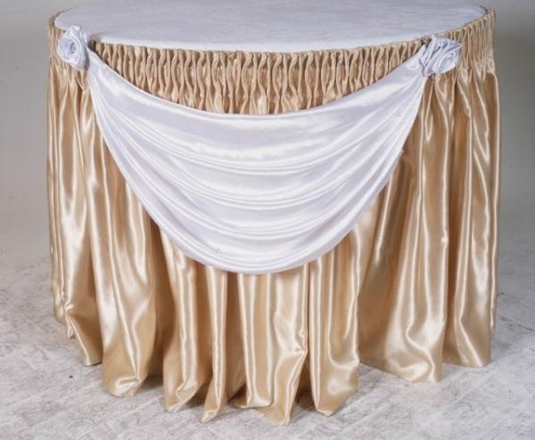 Фуршетная юбка для круглого стола д70см.